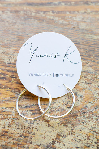 Yunis K Sterling Large Hoop