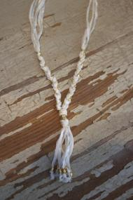 Ettika Deerskin & Ribbon Necklace