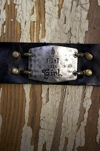 Fight Like A Girl Leather Bracelet