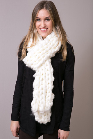Free People Ivory Chunky Scarf