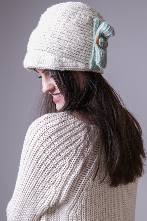 Jackie Cap Natural | Hat | French Knot Designs