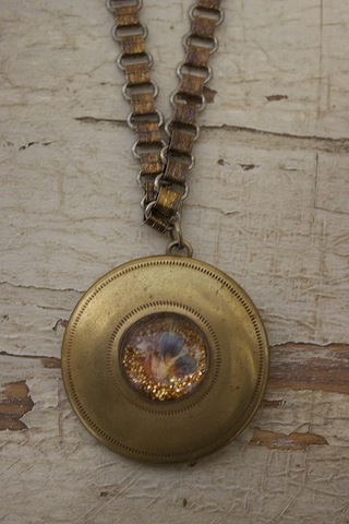 Serendipity Designs by Susan Glittery Gold Necklace