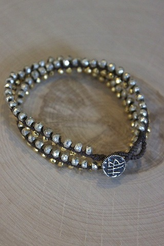 Harper Belle Gold and Silver Pyrite Harbor Wrap
