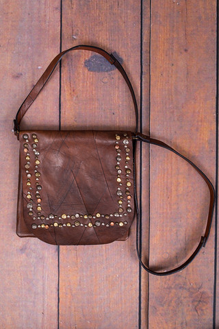 Lovestitch Beaded Leather Crossbody