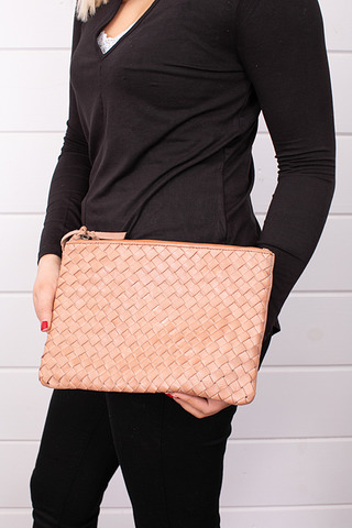 Cut N Paste Feed Woven Clutch