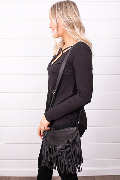 Cut N Paste Payton Fringe Crossbody 2