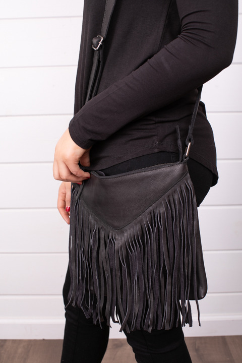 Cut N Paste Payton Fringe Crossbody