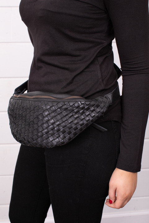 Cut N Paste Woven Hip Bag