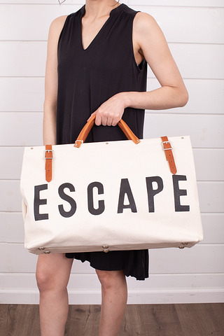 Forestbound Escape Canvas Utility Bag White