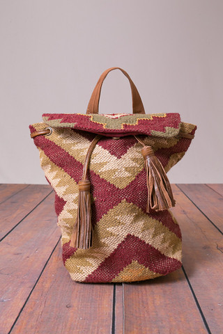 Lovestitch Wine Carpet Backpack