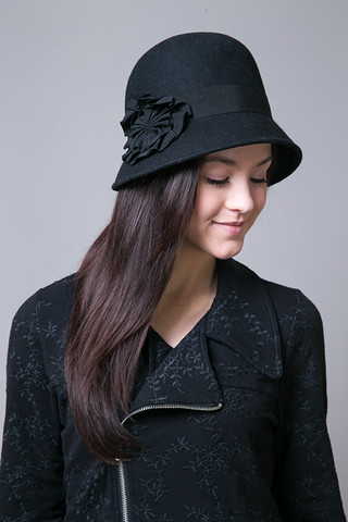 SD Hat Company Black Wool Felt Hat