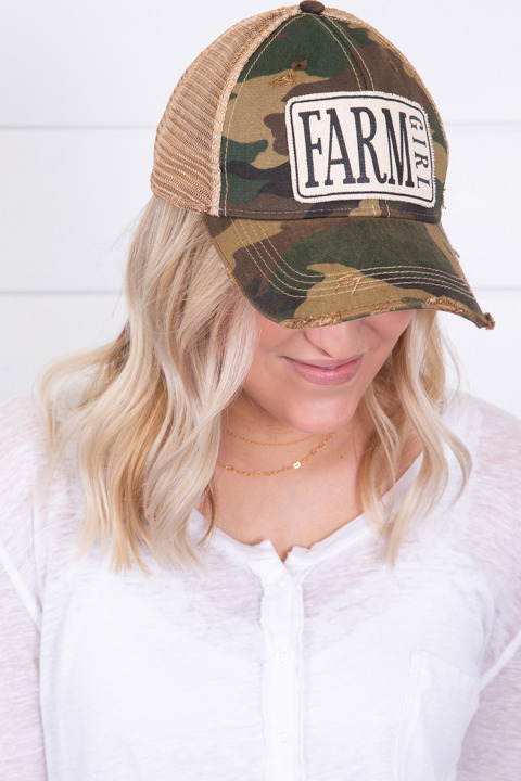 Live Happy Co. Farm Girl Hat