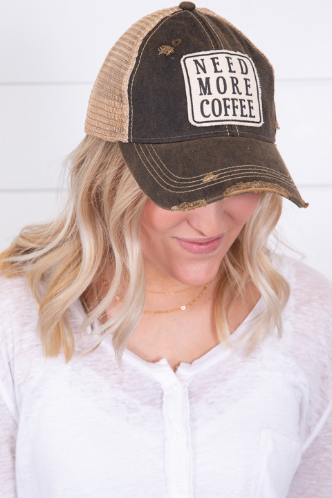 Live Happy Co. Need More Coffee Hat