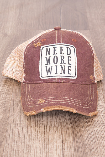 Live Happy Co. Need More Wine Hat 2