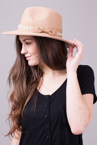 POL Blush Detailed Fedora