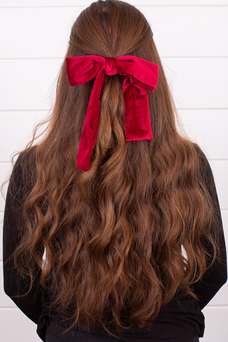 Red Velvet Tie Scrunchie