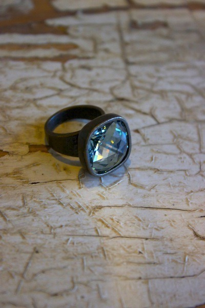 Indian sapphire crystal ring ring rebel designs for Rebel designs jewelry sale
