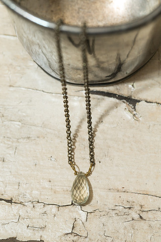 Iridescent Teardrop Necklace
