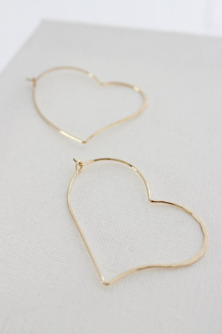 Gold Heart Silhouette