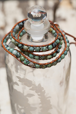 The Lizou Collection African Turquoise Wrap Bracelet