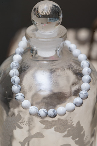 The Lizou Collection White Howlite Bracelet