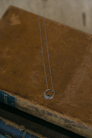 Vanessa Mooney Sadi Moon Necklace Silver