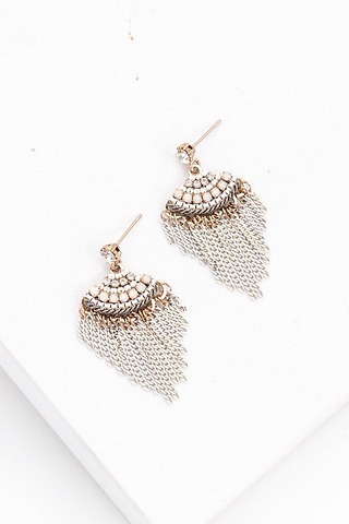 Lovers Tempo Juliette Fan Fringe Earrings