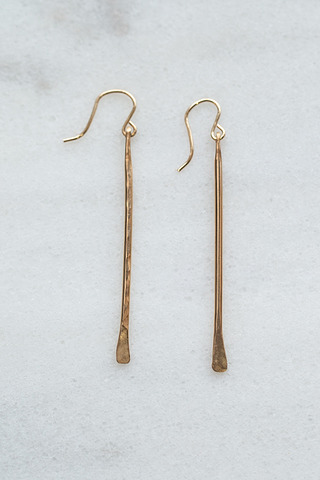 Nashelle Gold Twig Earrings