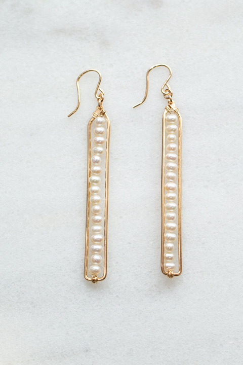Nashelle Pebble Stick Earrings