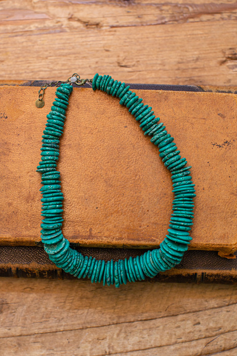 Tellume Green Turquoise Necklace