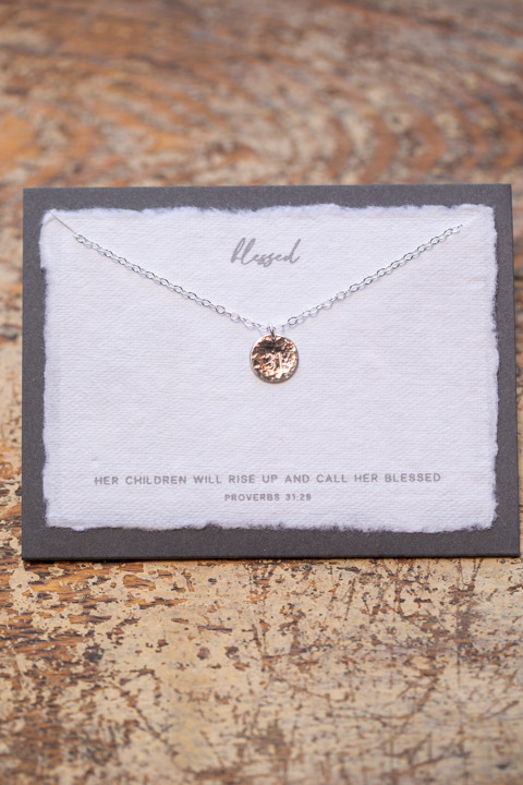 Dear Heart Blessed Silver Necklace