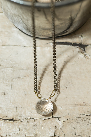 Clear Teardrop Necklace