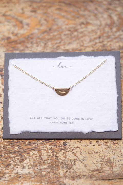 Dear Heart Gold Love Necklace