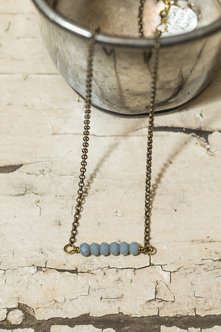 Grey Small Beaded Necklace