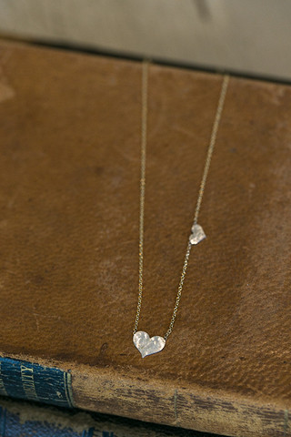 Jennifer Jones Collection Double Heart Necklace