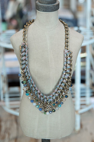 The Lizou Collection Waterfall Necklace