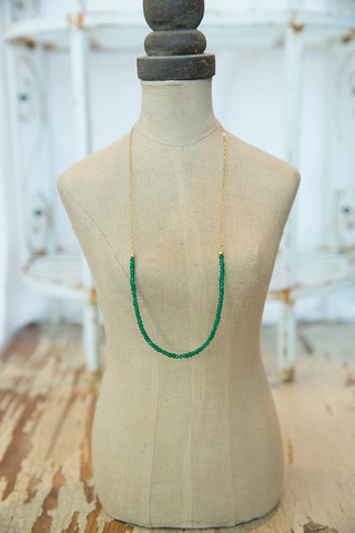 London Manori Emerald Beaded Stone Necklace