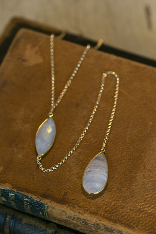 London Manori Heavy Moonstone Lariat