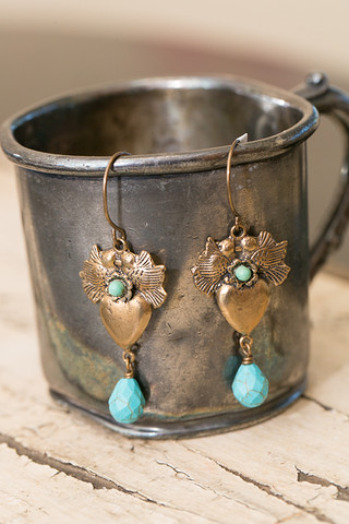 Lovebird Turquoise Earrings