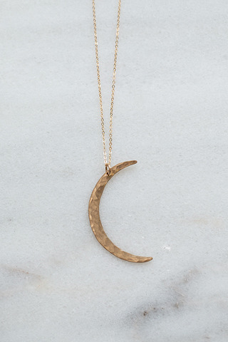 Nashelle Gold Moon Necklace