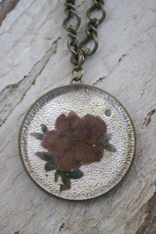 Serendipity Designs by Susan Pressed Flower Necklace