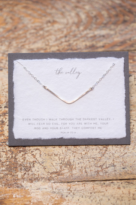 Dear Heart The Valley Silver Necklace