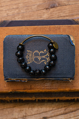 Port-Au Prince Black Beaded Bracelet