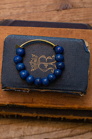 Port-Au Prince Deep Blue Beaded Bracelet