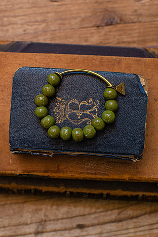 Port-Au Prince Green Beaded Bracelet