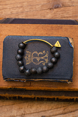 Port-Au Prince Grey Beaded Bracelet