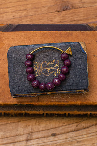 Port-Au Prince Purple Beaded Bracelet