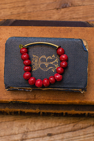 Port-Au Prince Red Beaded Bracelet