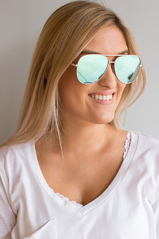 Quay Eyewear Australia High Key Silver
