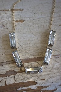 Rectangular Crystal Necklace